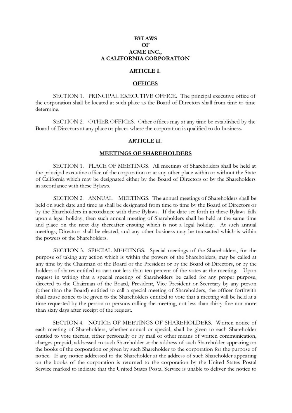 Church Constitution Template Pdf
