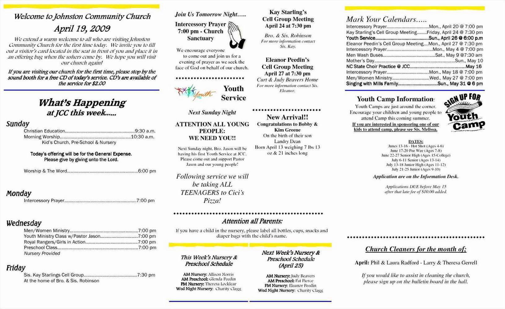 Company Anniversary Program Templates