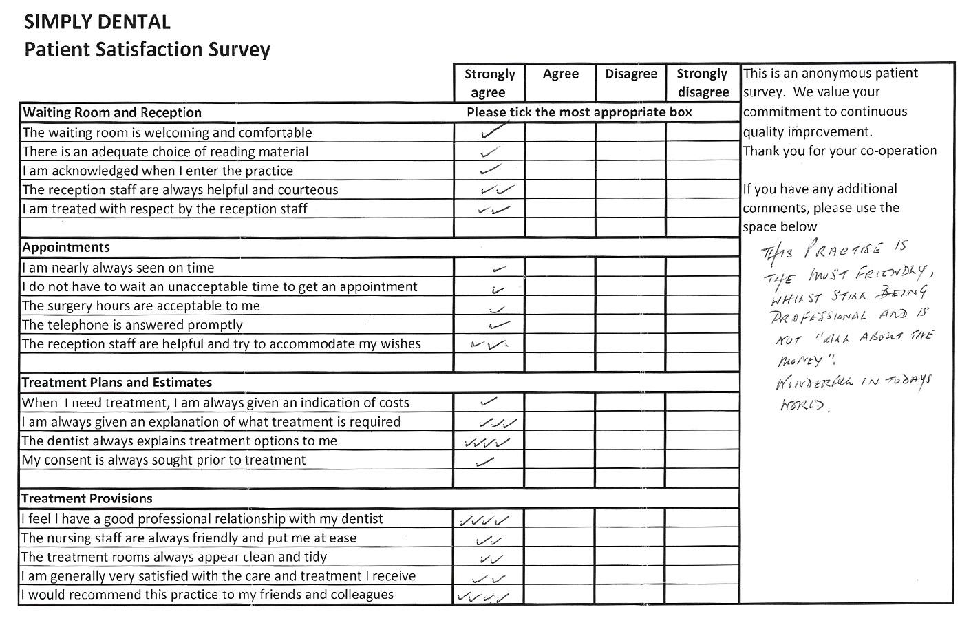 Dental Patient Satisfaction Survey Template
