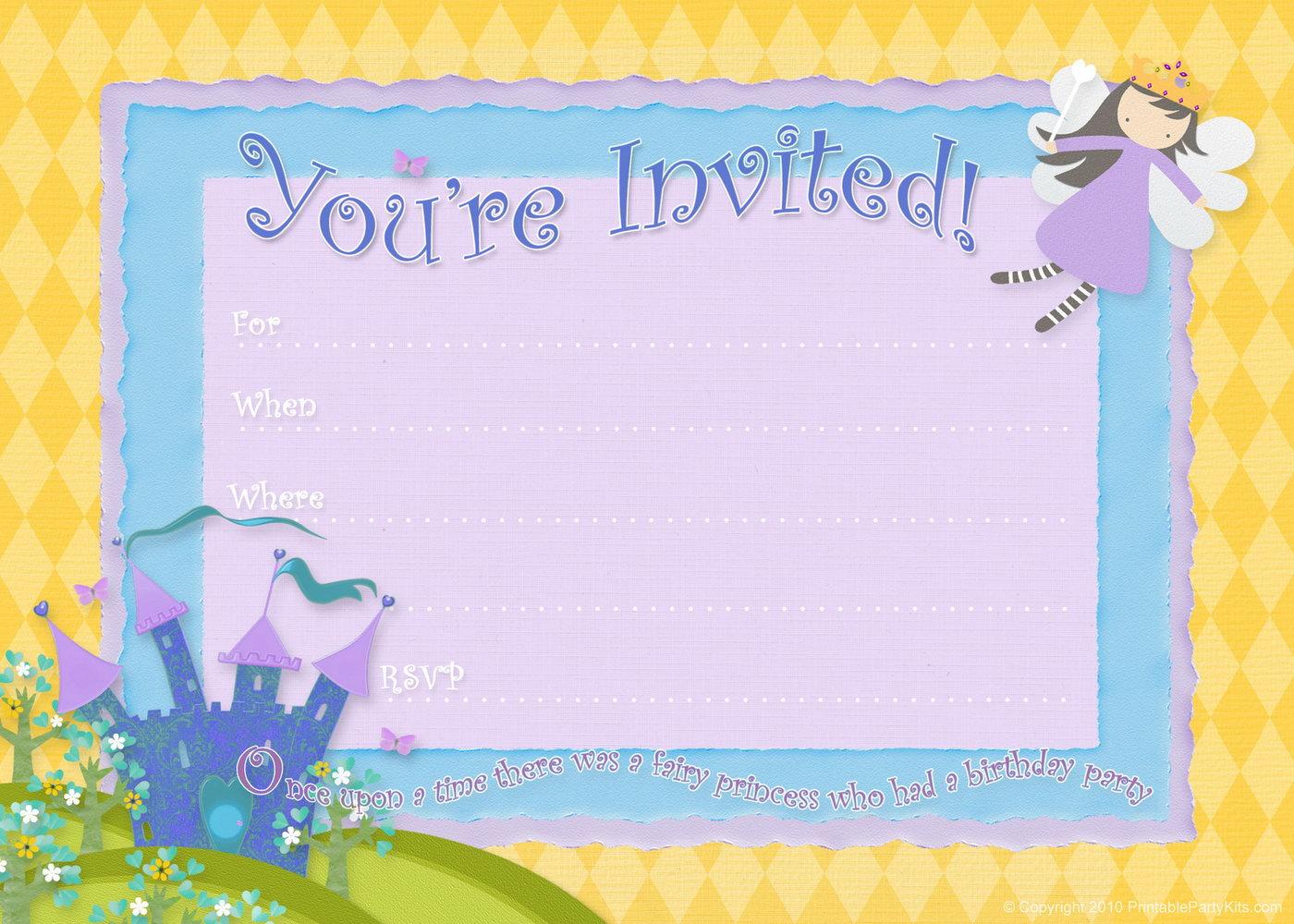 Downloadable Free Invitation Templates