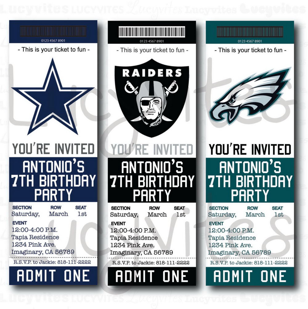 Editable Football Ticket Template Free