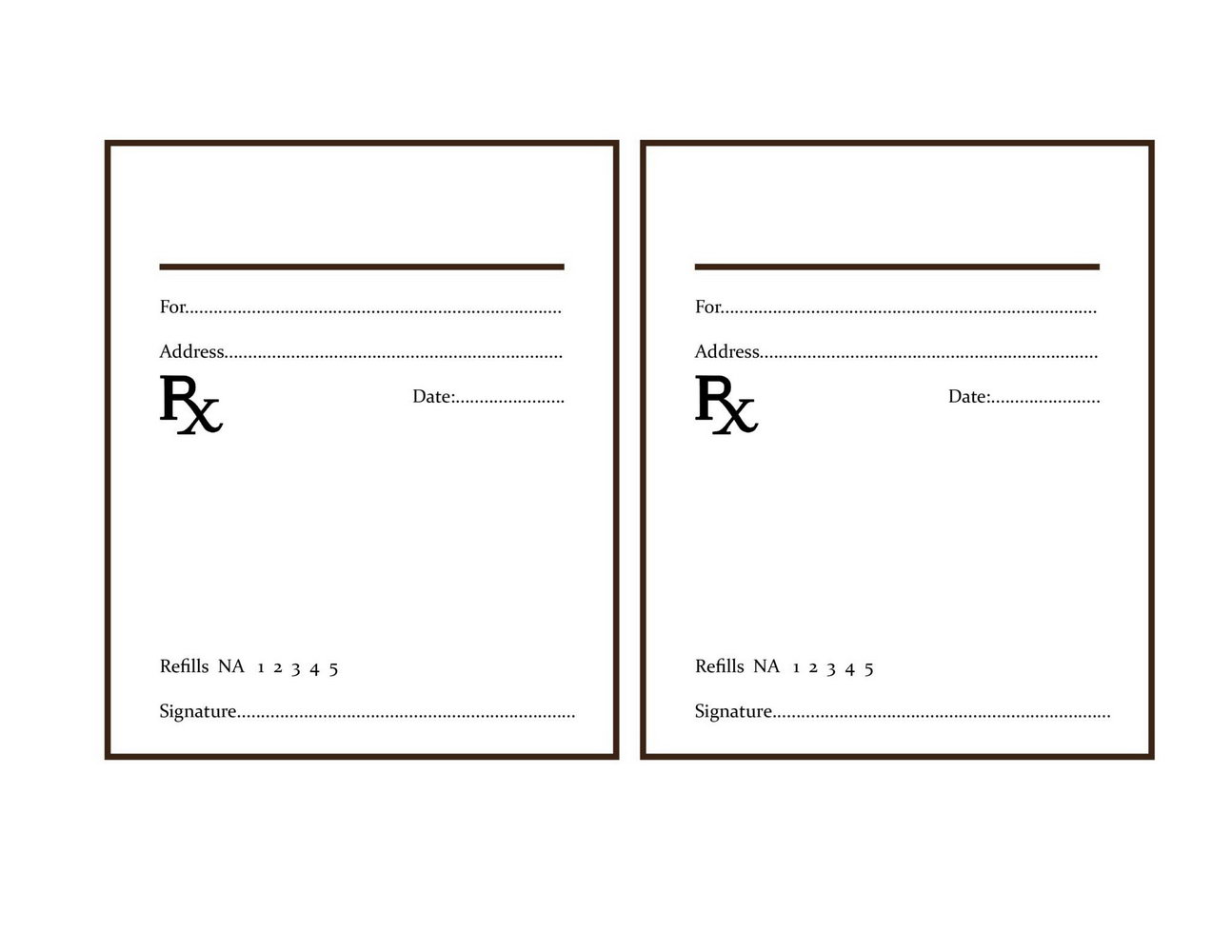 Fake Prescription Pad Template
