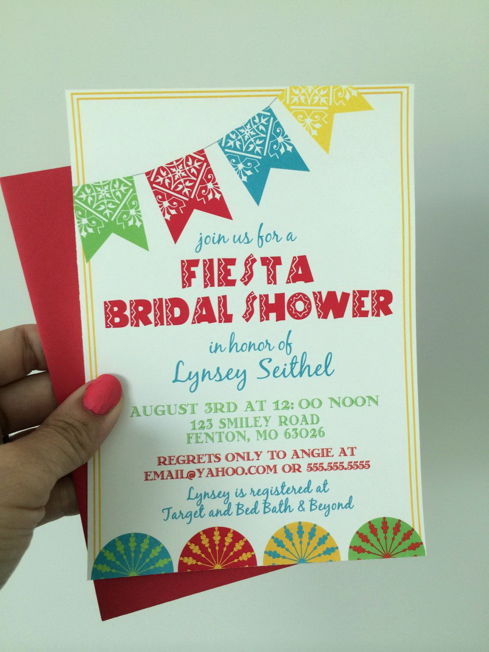 Fiesta Party Invitation Template Free