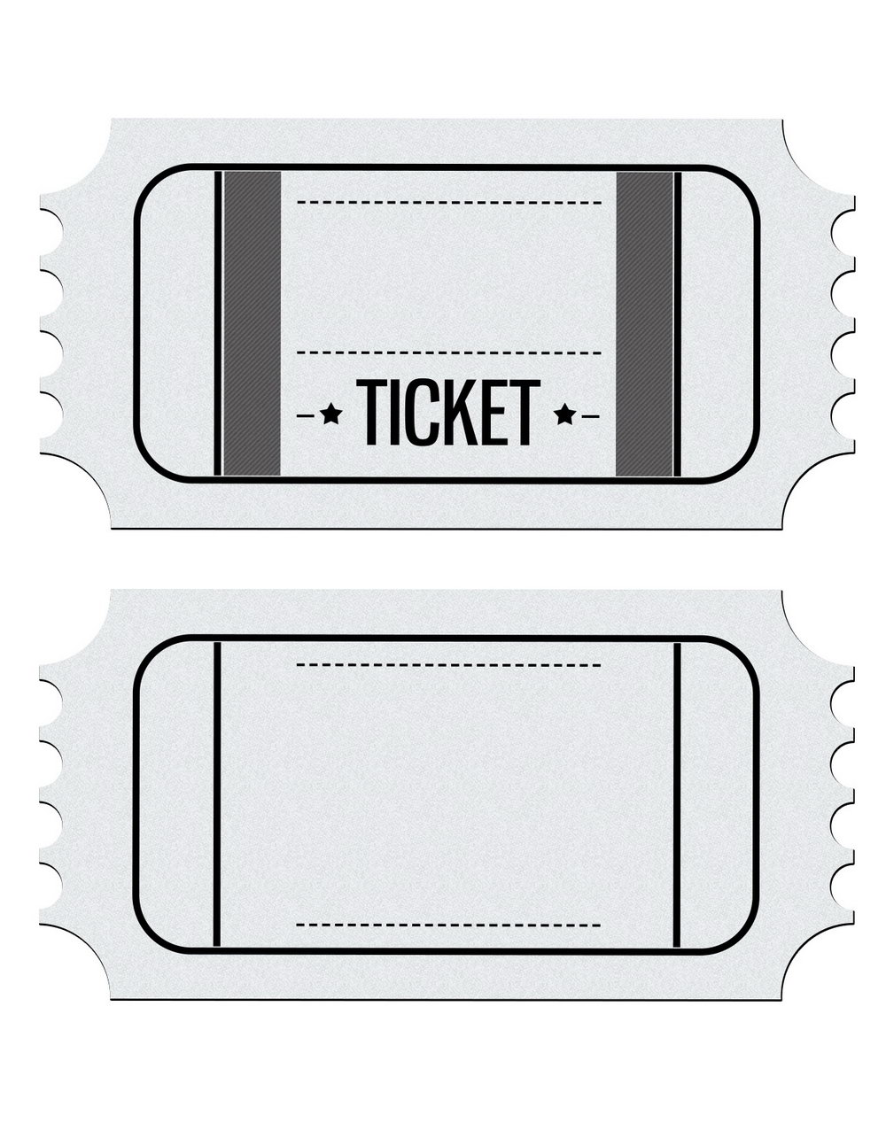 Football Game Ticket Template