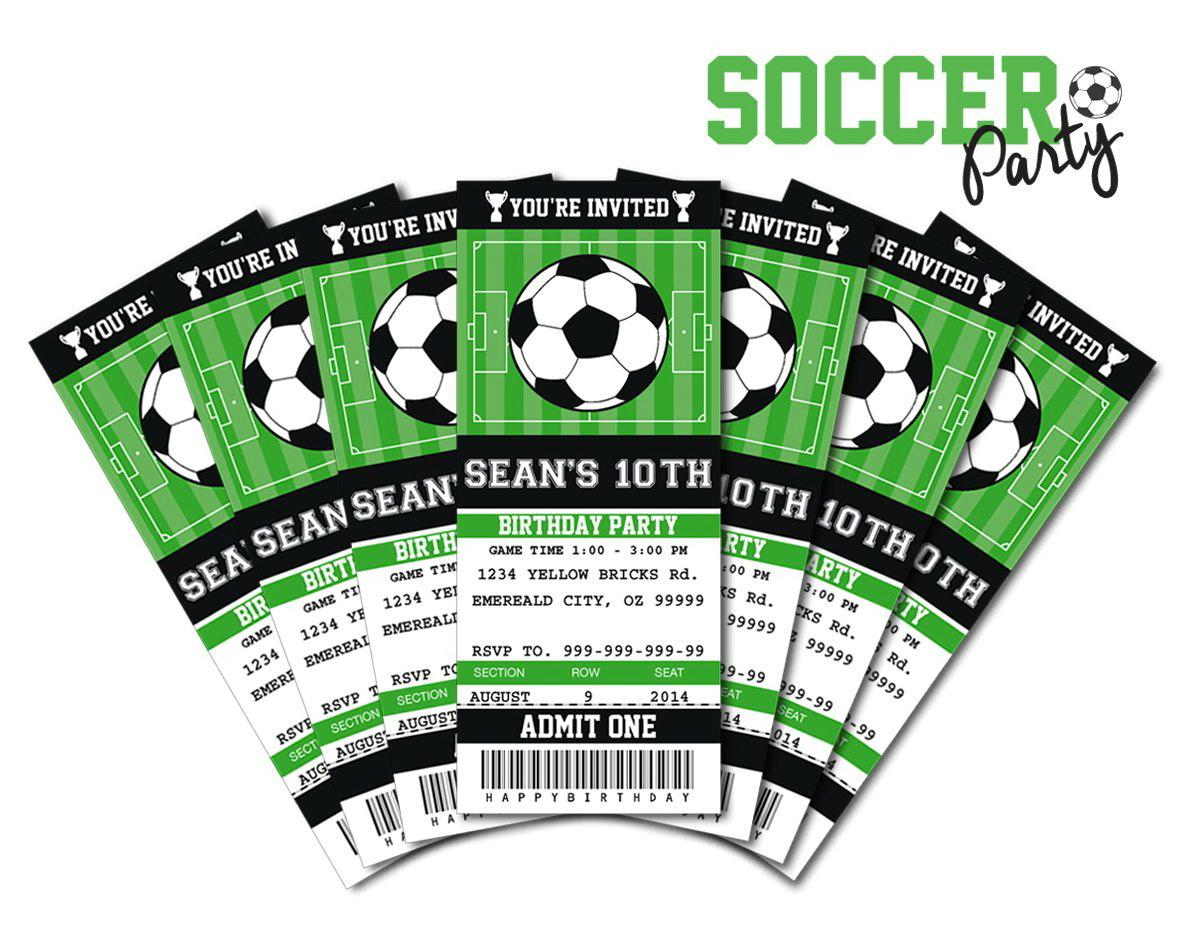 Football Ticket Templates