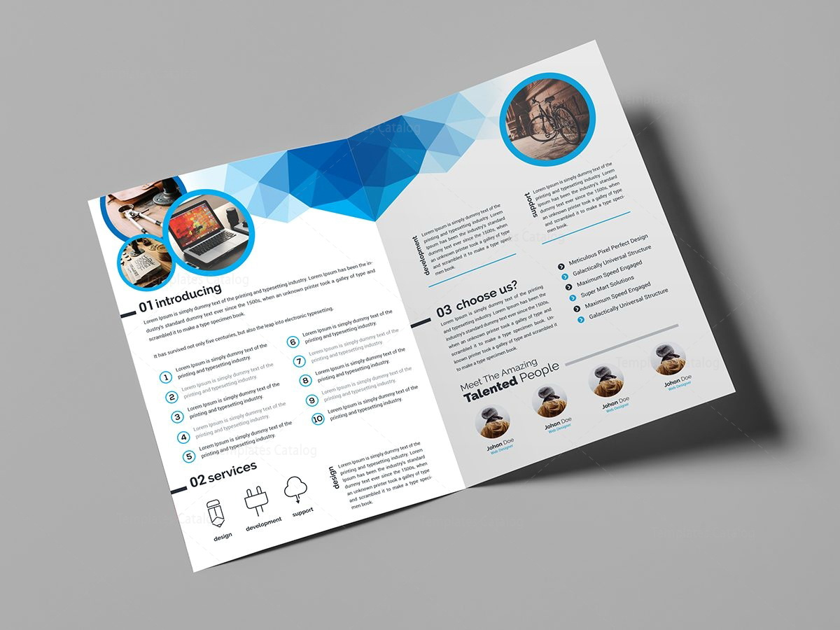 Free Bi Fold Brochure Templates