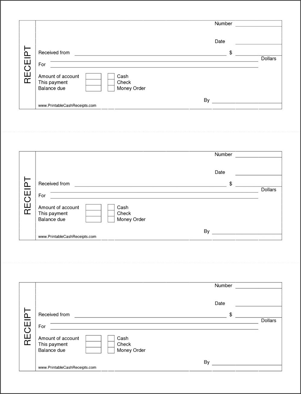 Free Cash Receipt Template Word Doc