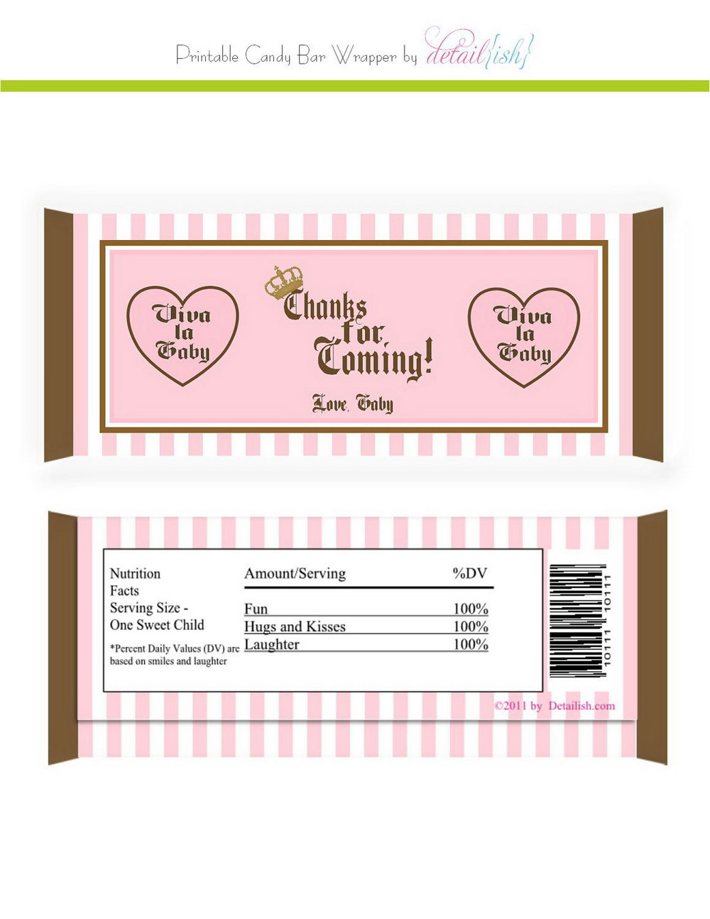 Free Chocolate Wrapper Template