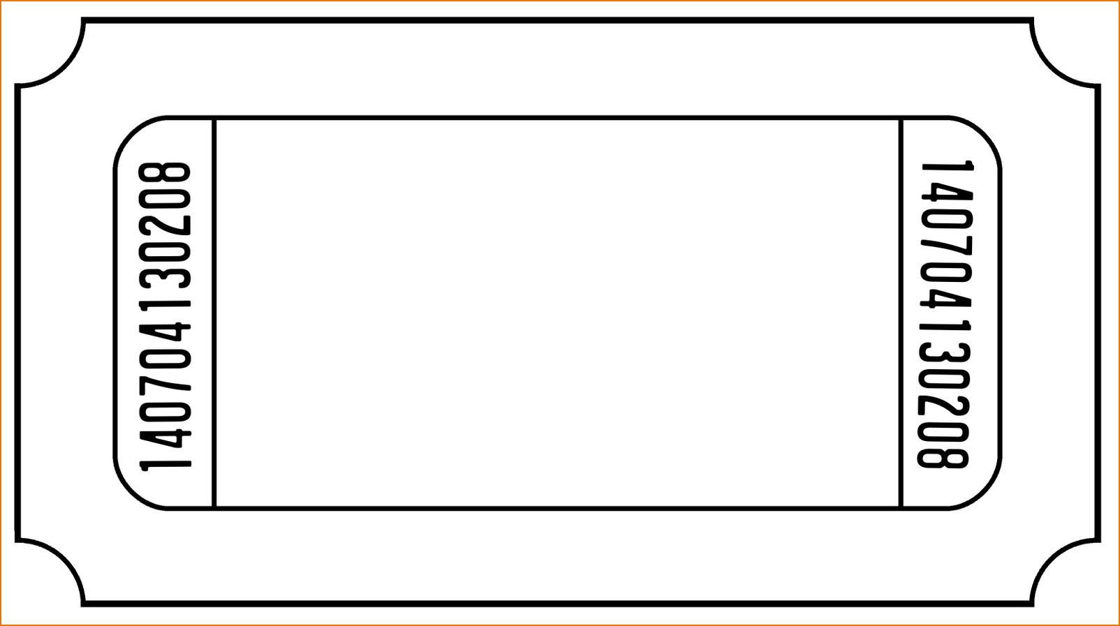 Free Printable Blank Ticket Template
