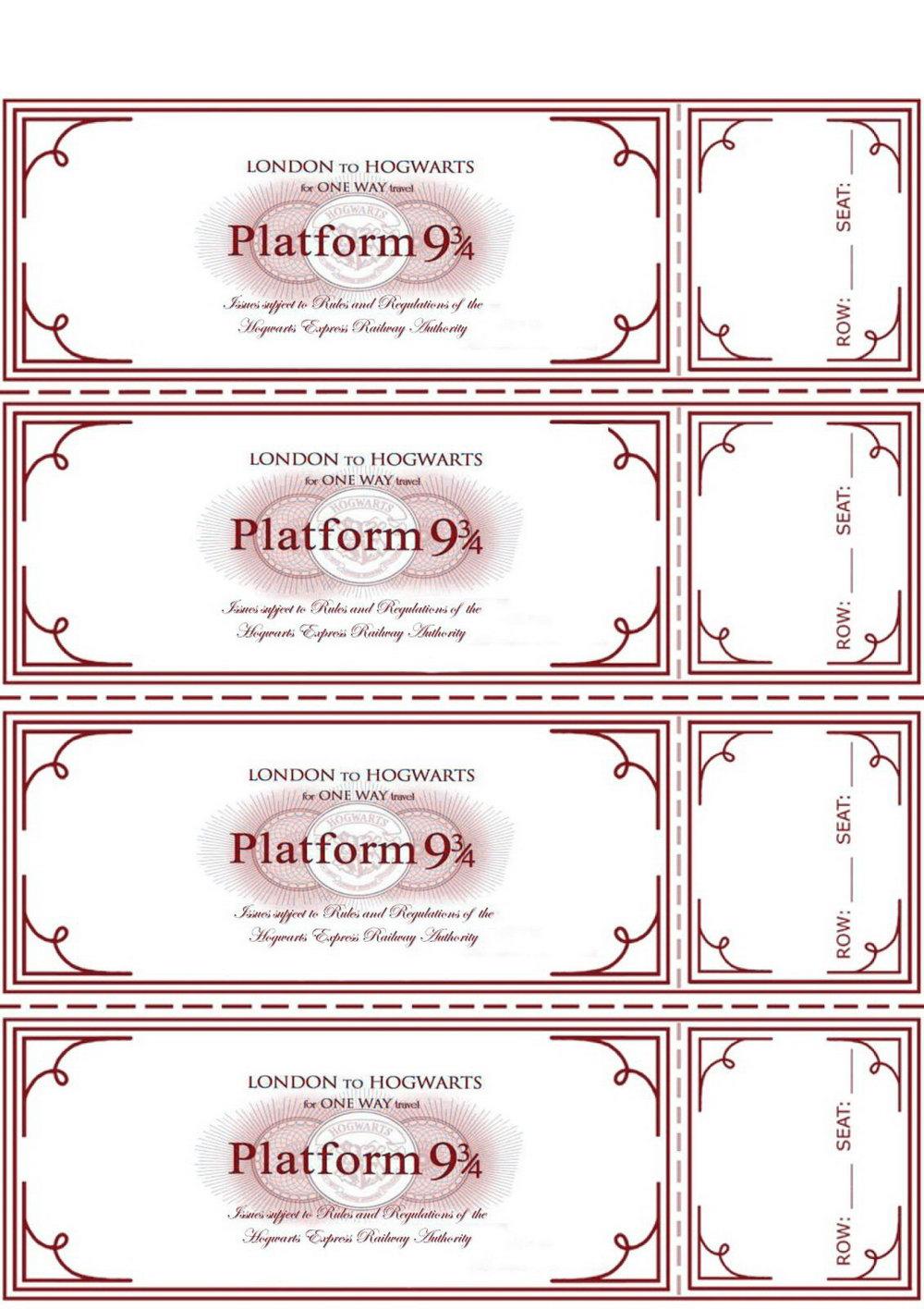 Free Printable Train Ticket Template
