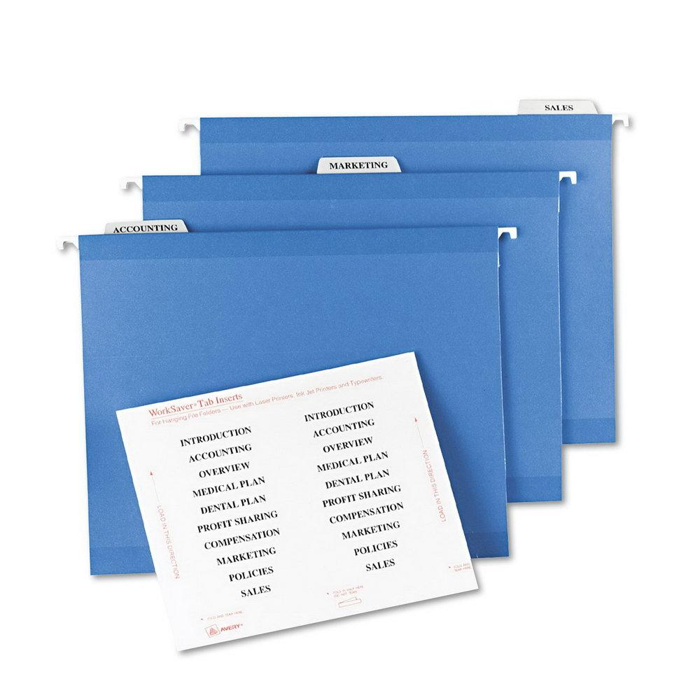Hanging File Folder Label Template