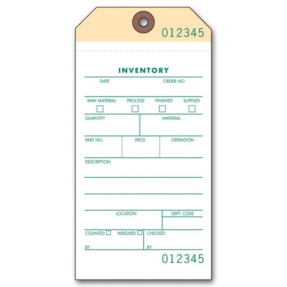 Inventory Labels Template