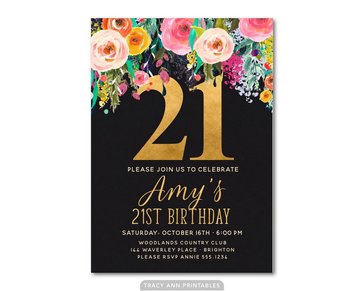 Invitation Templates For 21st Birthday Parties