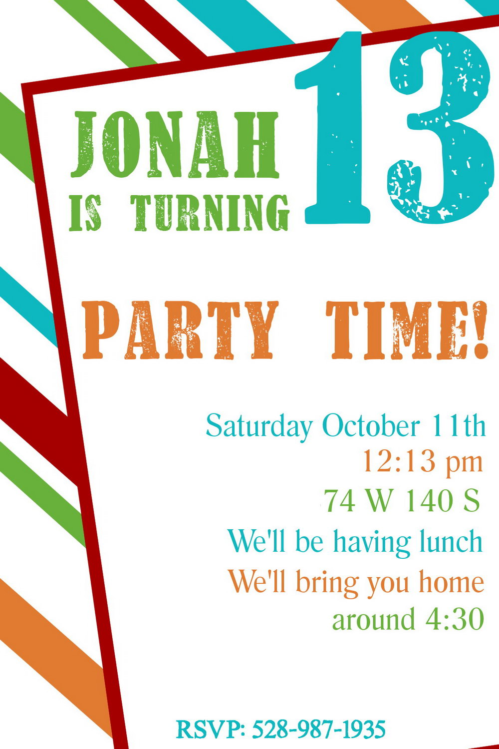 Invitation Templates For Birthday Party