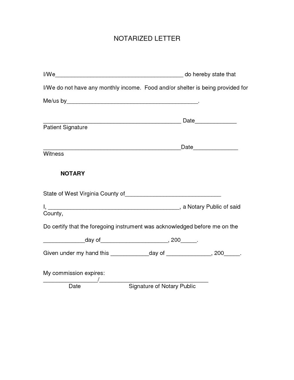 Notarized Document Template