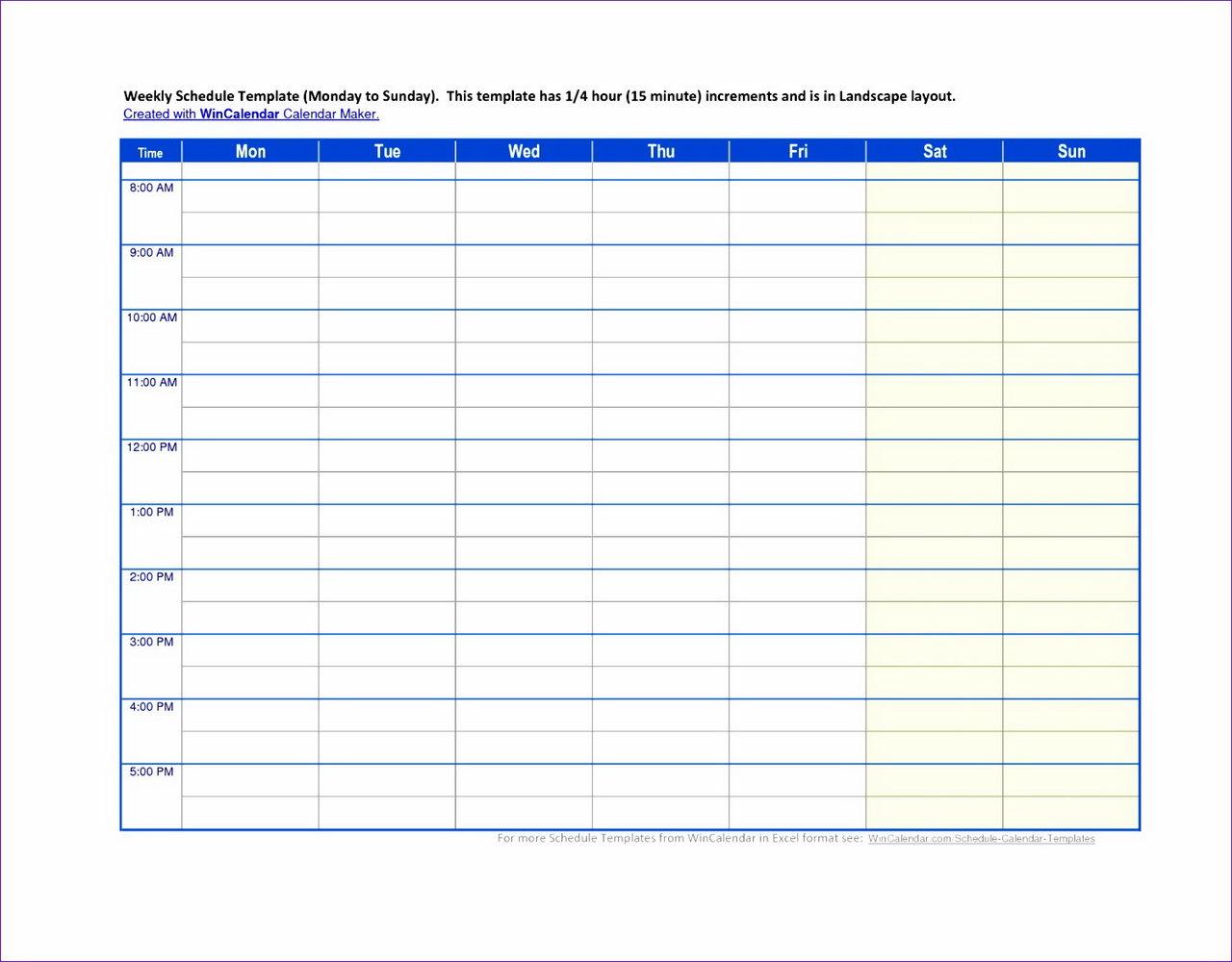 Nursing Schedule Template Excel