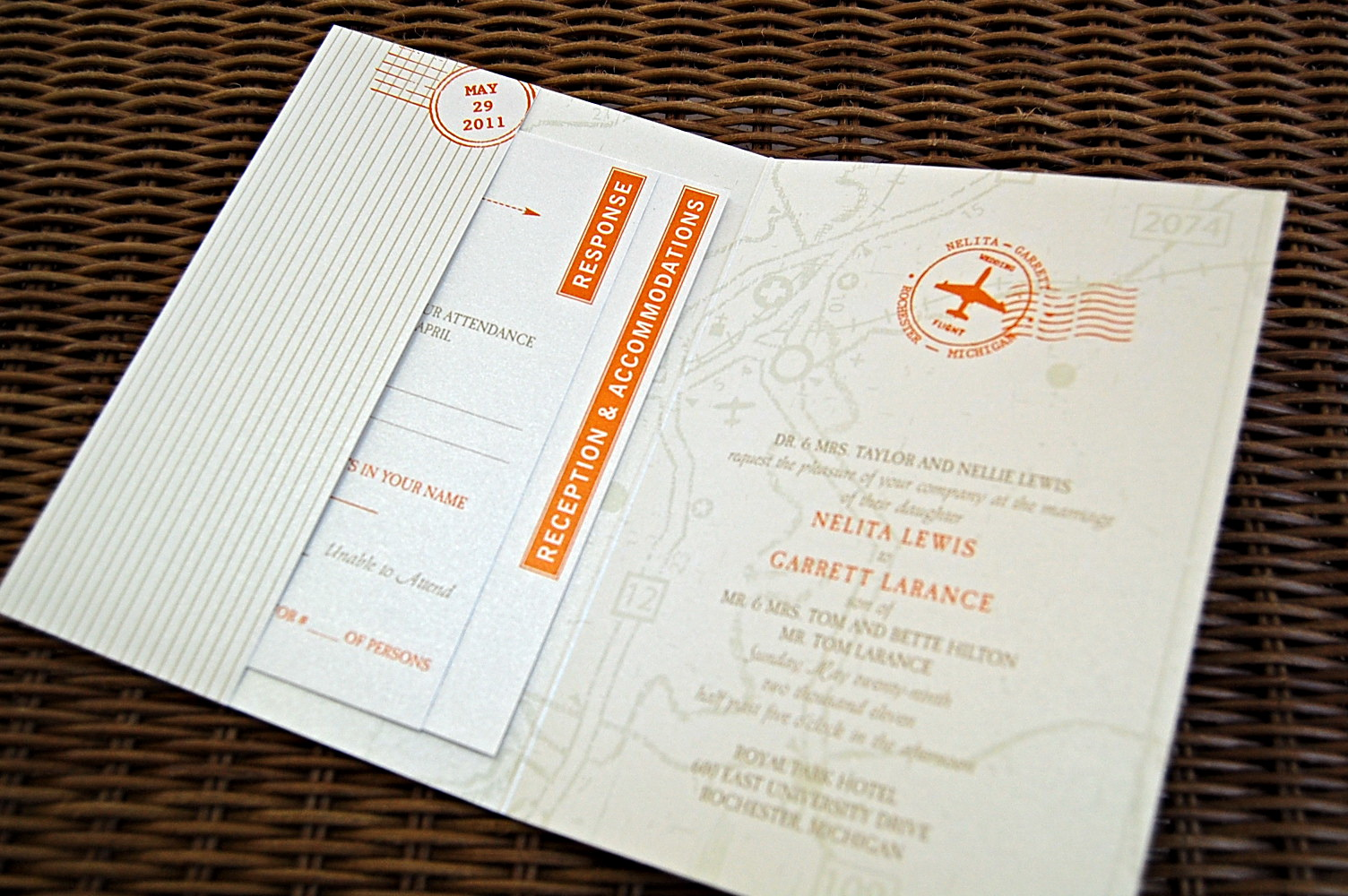 Passport Wedding Program Template
