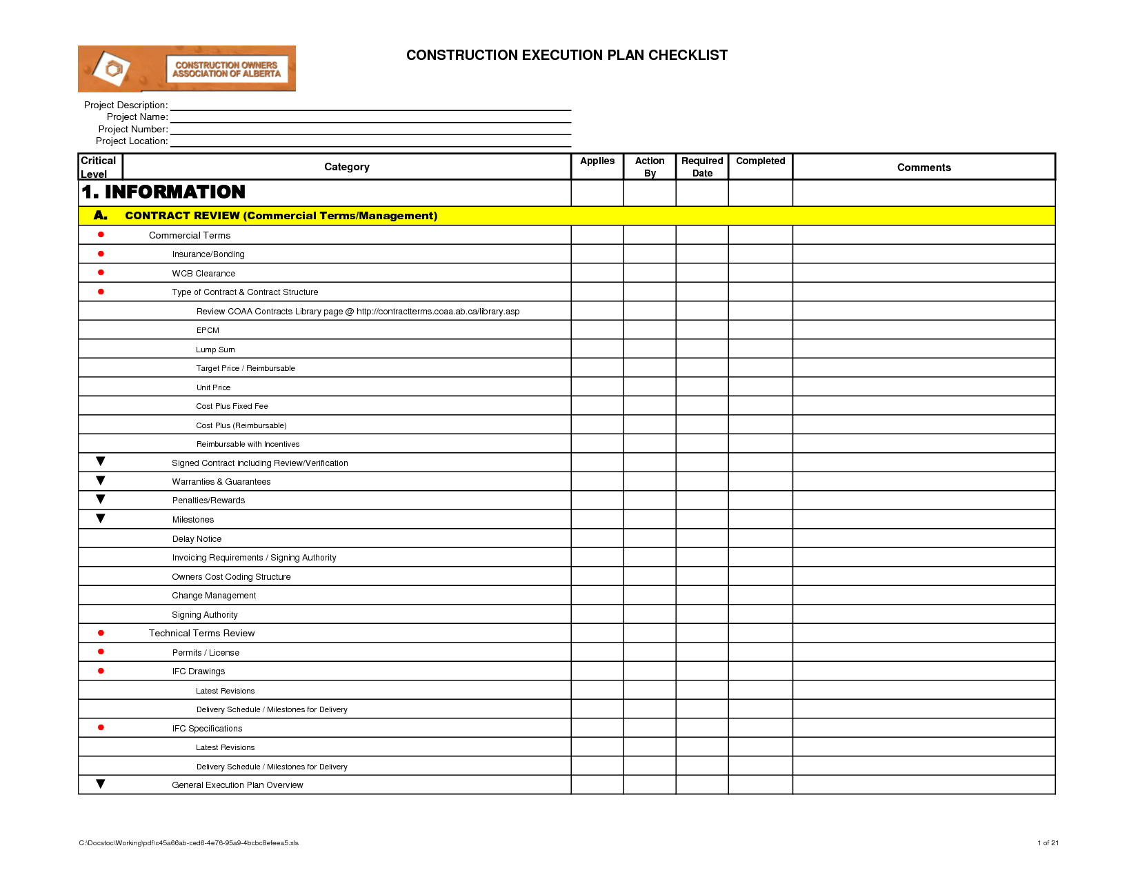 Project Execution Plan Template Pmi