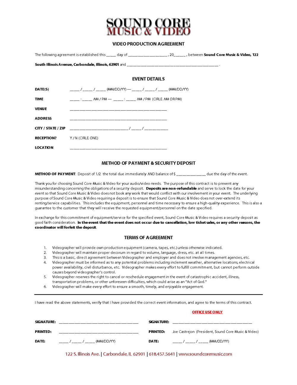 Record Label Contract Template Free