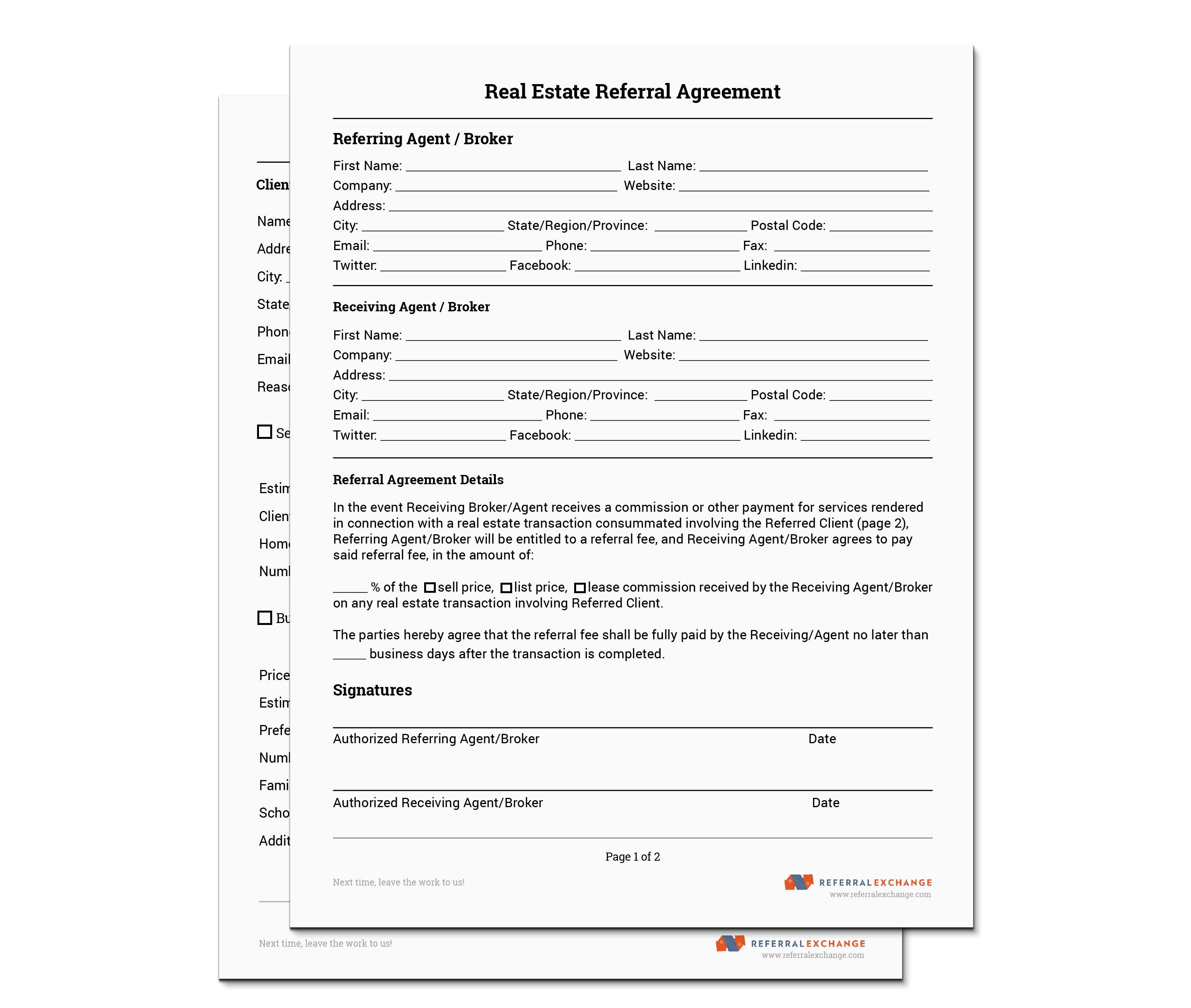 Referral Agreement Template Australia