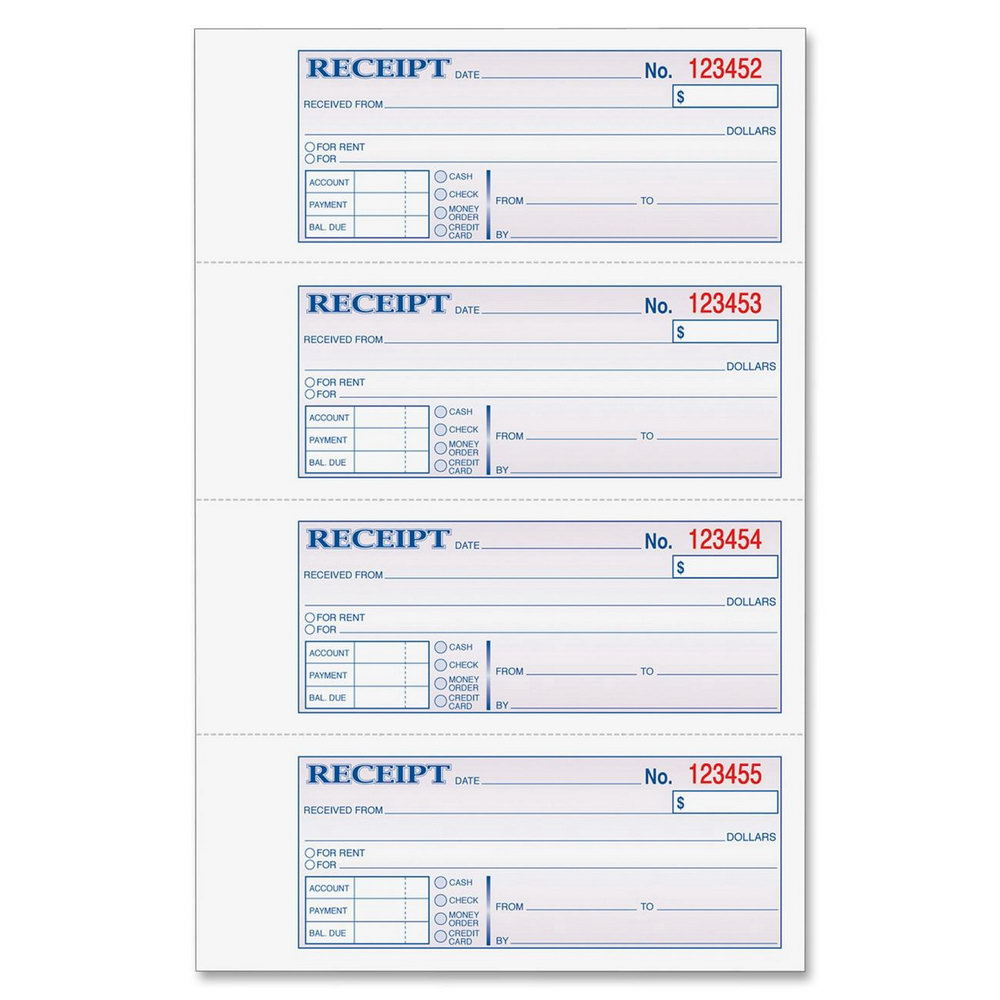 Rent Receipt Book Template Free