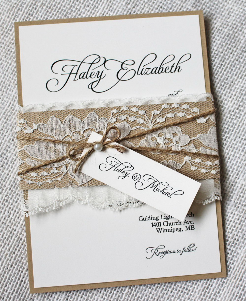 Rustic Floral Wedding Invitation Templates