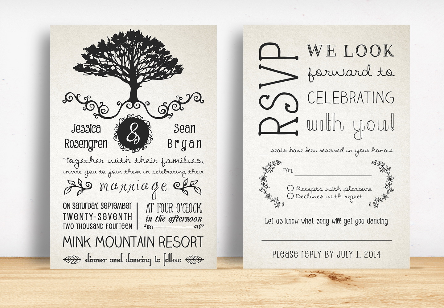 Rustic Wedding Website Templates