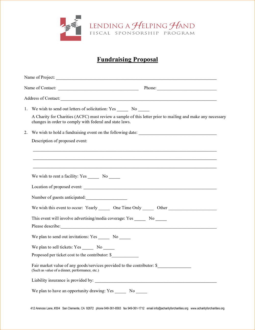 Sample Fundraising Proposal Template