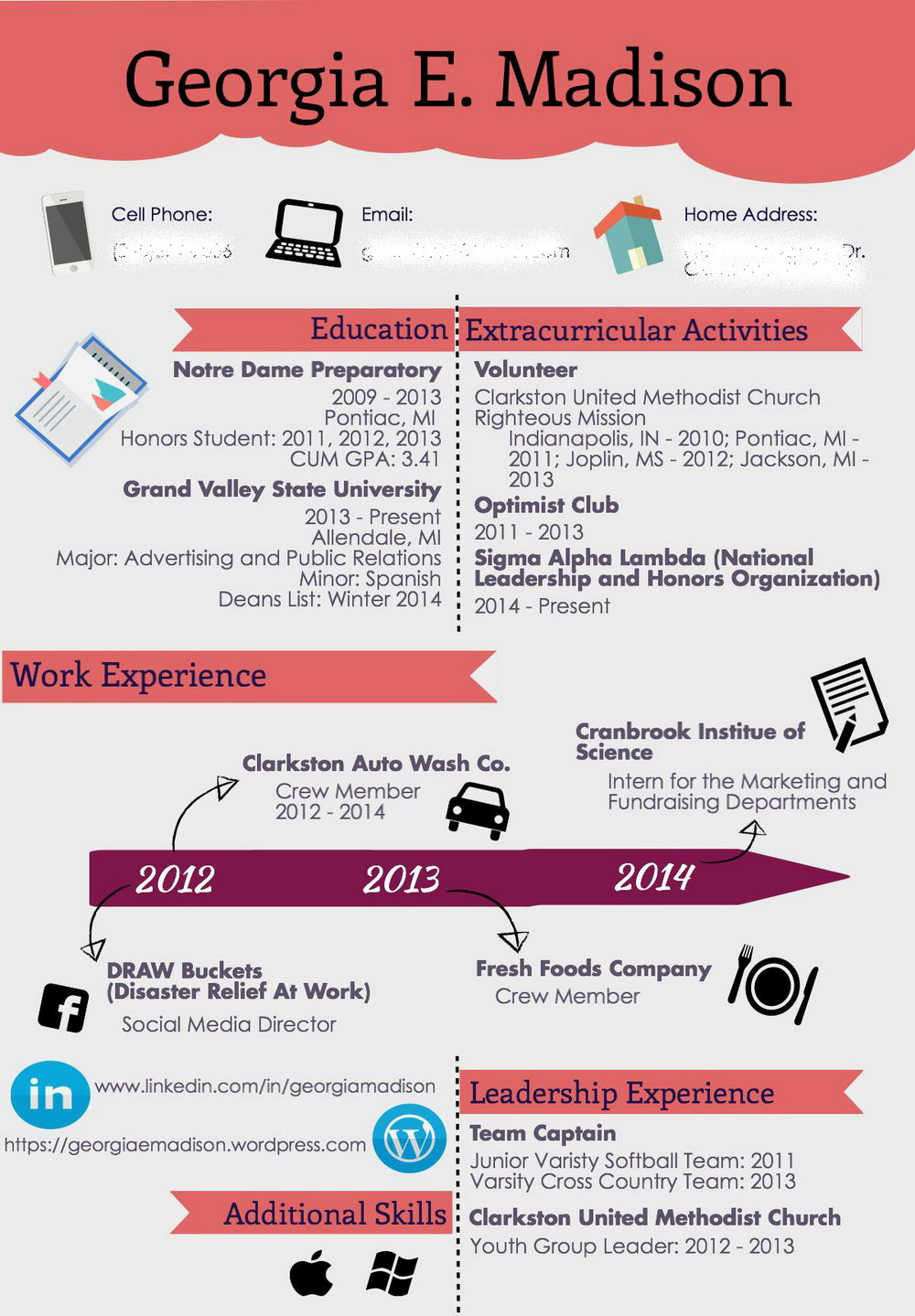 Template Resume Cv Infographic