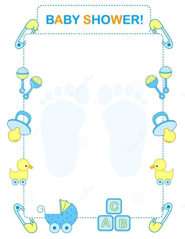 Templates For Baby Shower Invitations Word