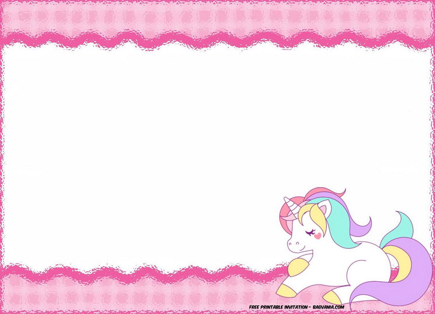 Unicorn Birthday Party Invitation Templates
