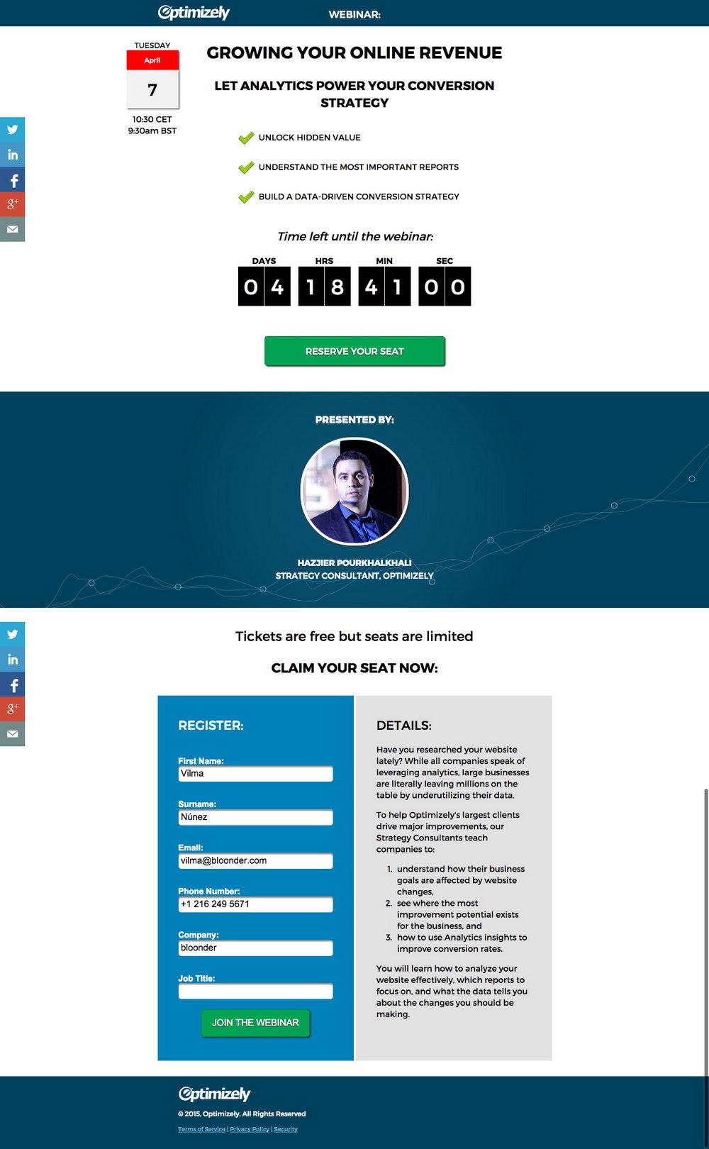 Webinar Invitation Email Template