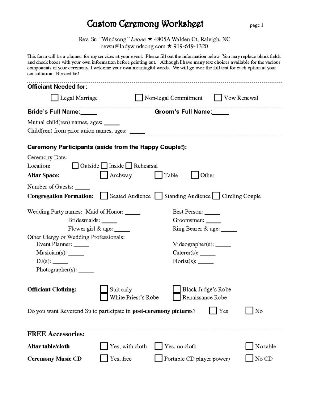 Wedding Planner Contract Template Free