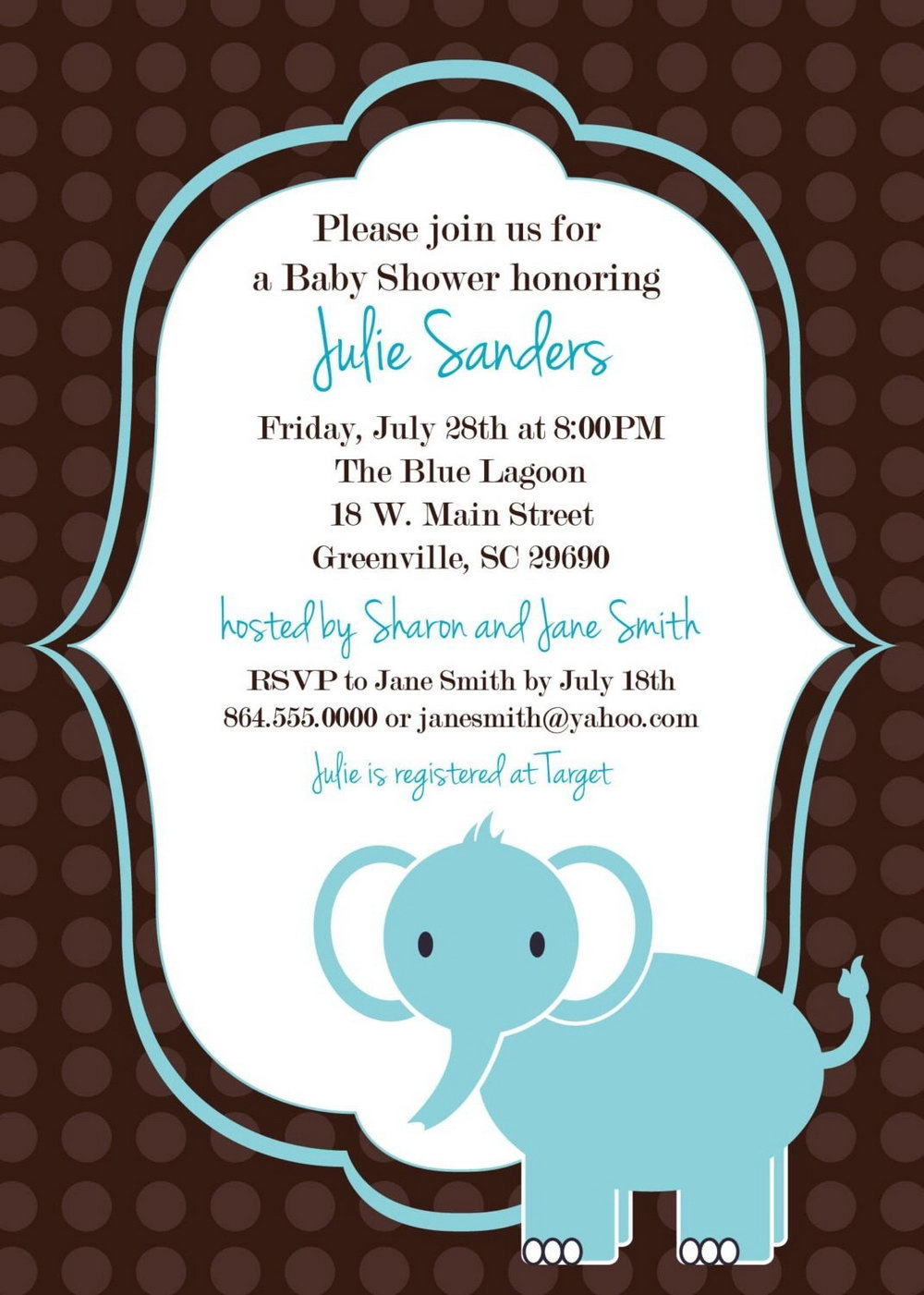 Winter Wonderland Baby Shower Invitations Templates