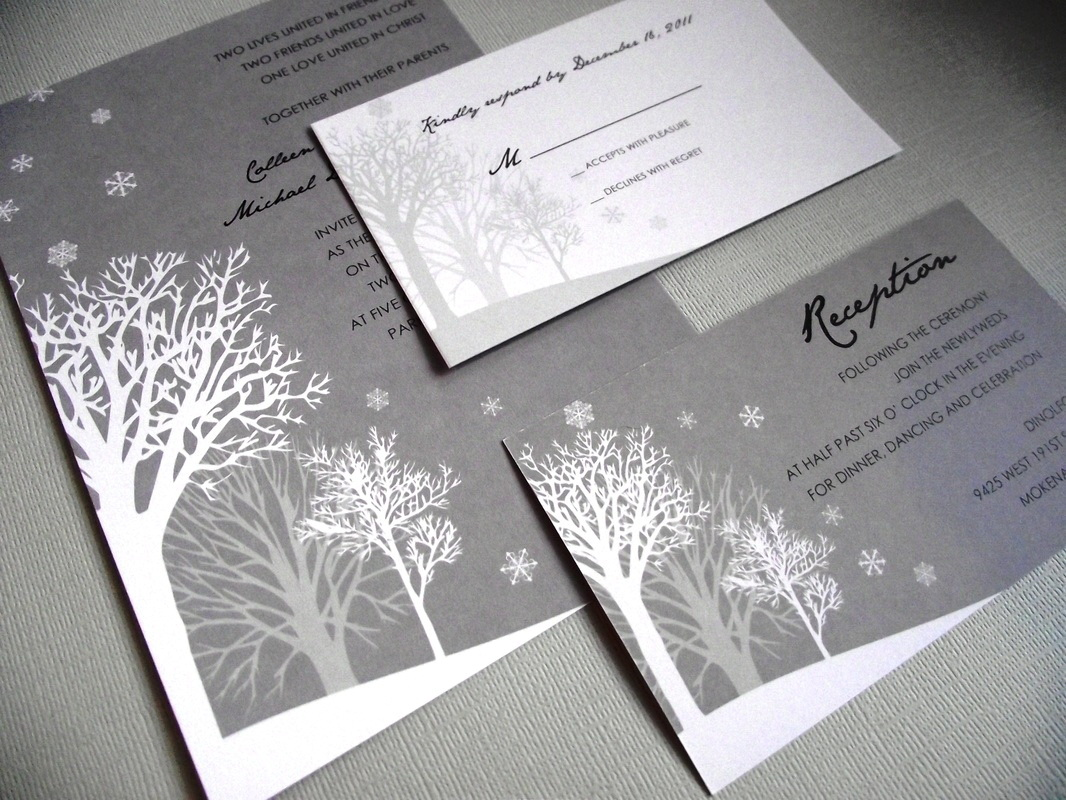 Winter Wonderland Invitations Templates