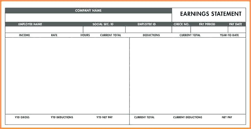 1099 Paycheck Stub Template Free