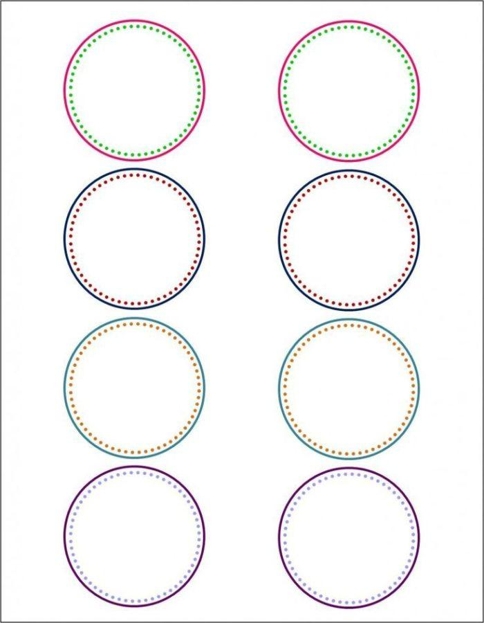 12 Inch Circle Label Template
