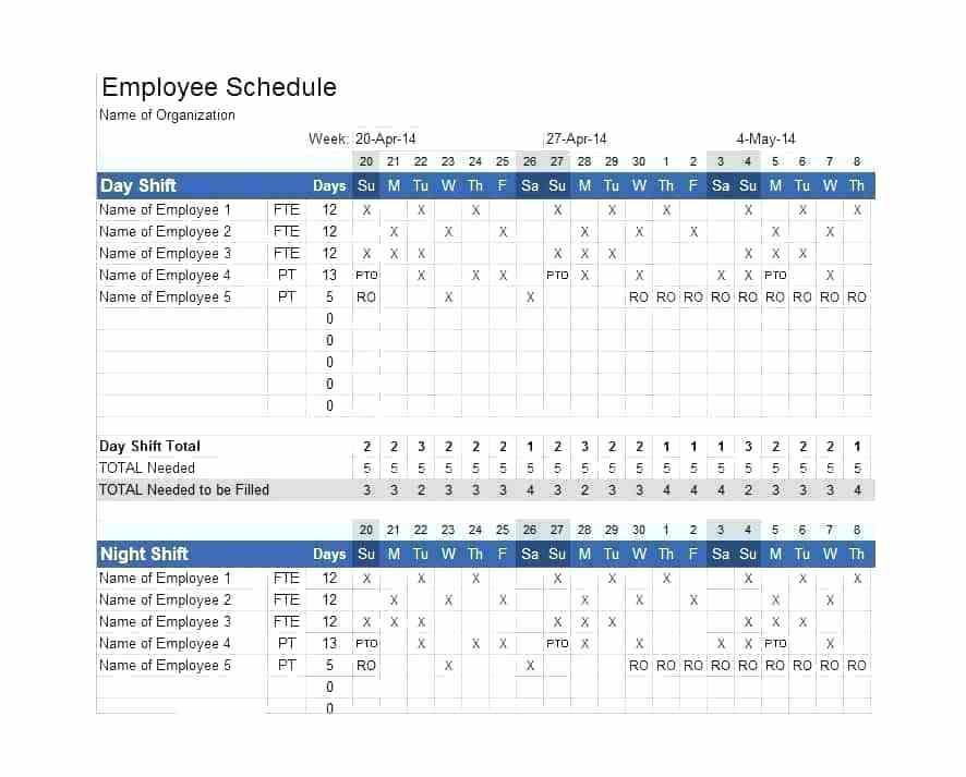 24 7 12 Hour Shift Schedule Examples