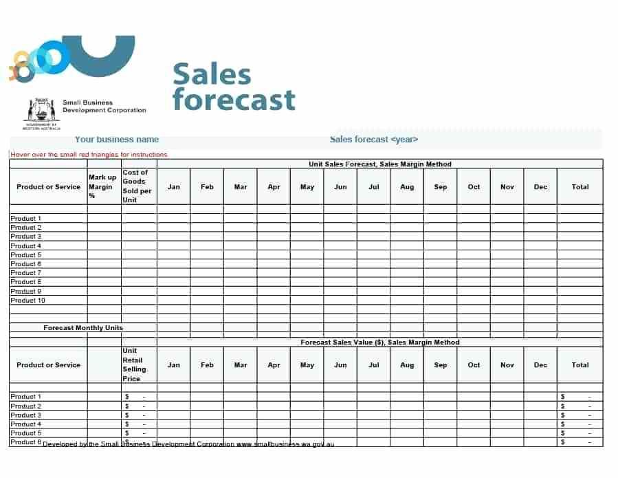 5 Year Sales Forecast Template
