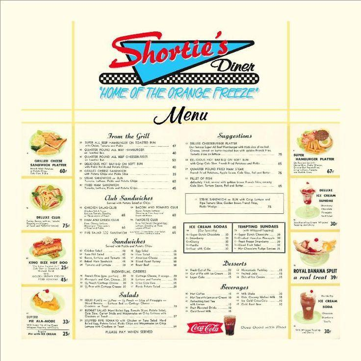 50s Style Diner Menu Template