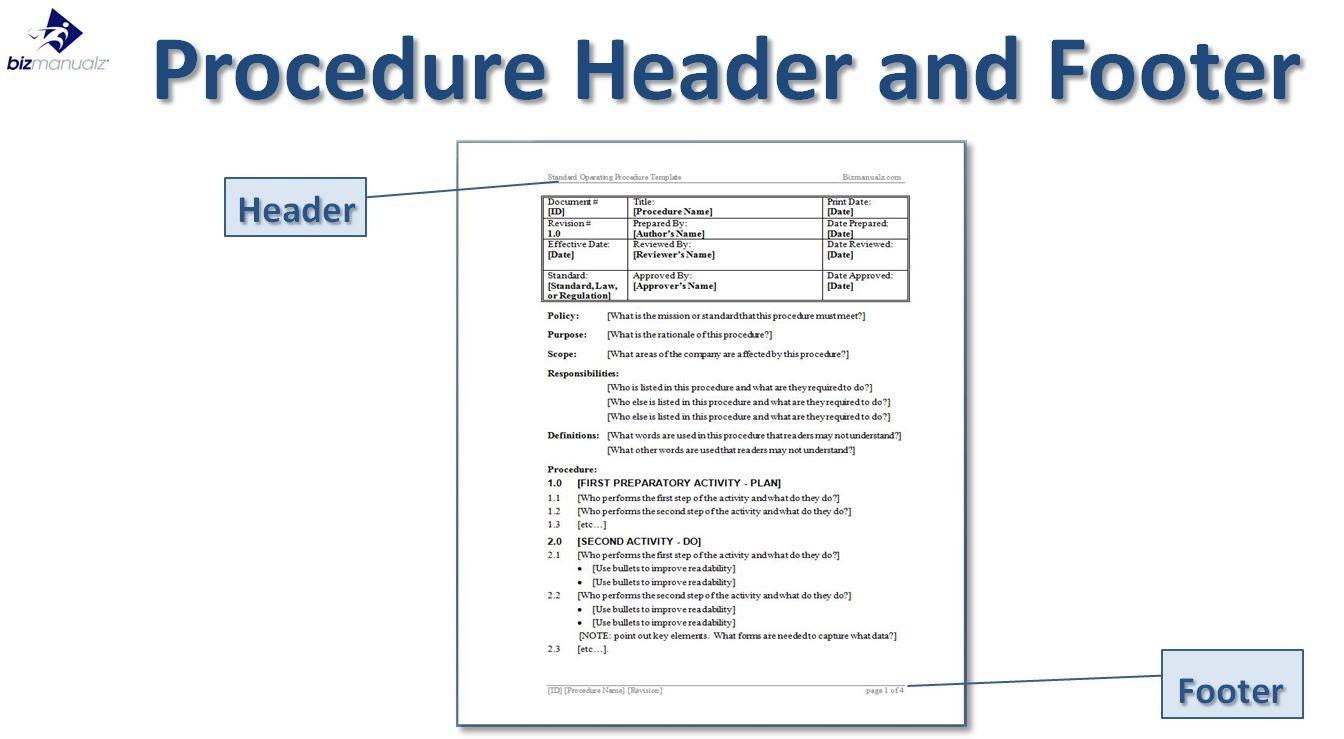 Accounting Standard Operating Procedure Template