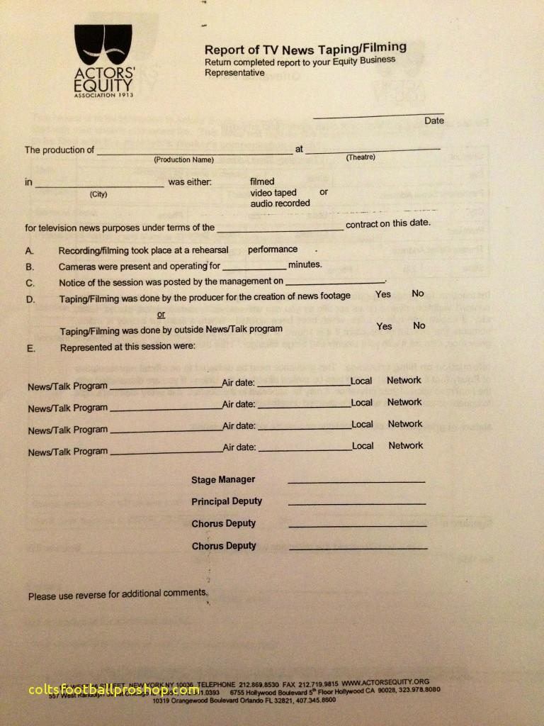 Actors Equity Contract Template