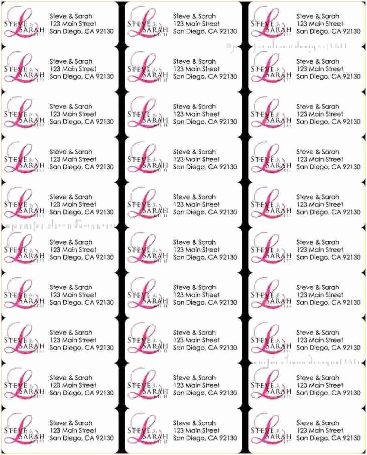 Address Labels 30 Per Sheet Template
