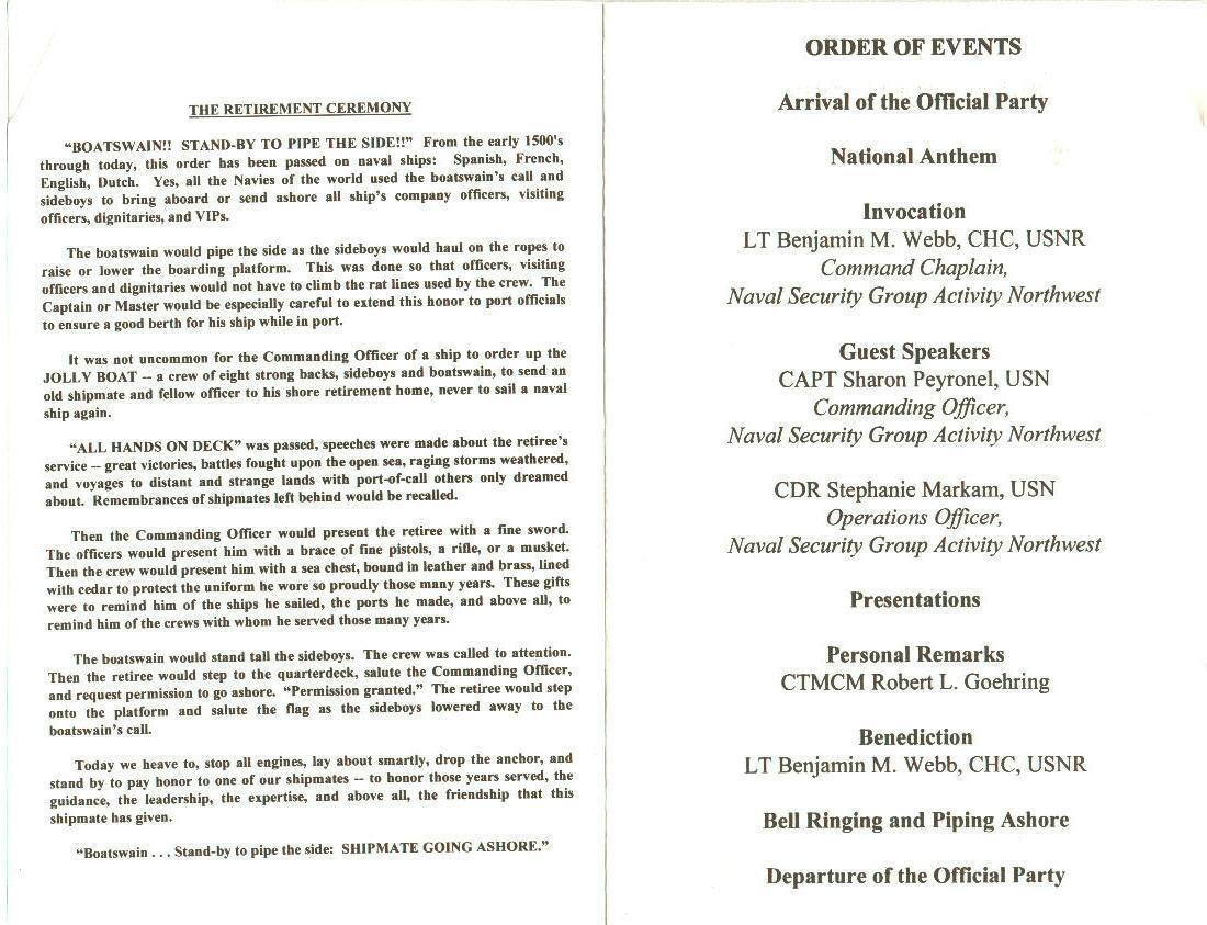Af Retirement Ceremony Program Template