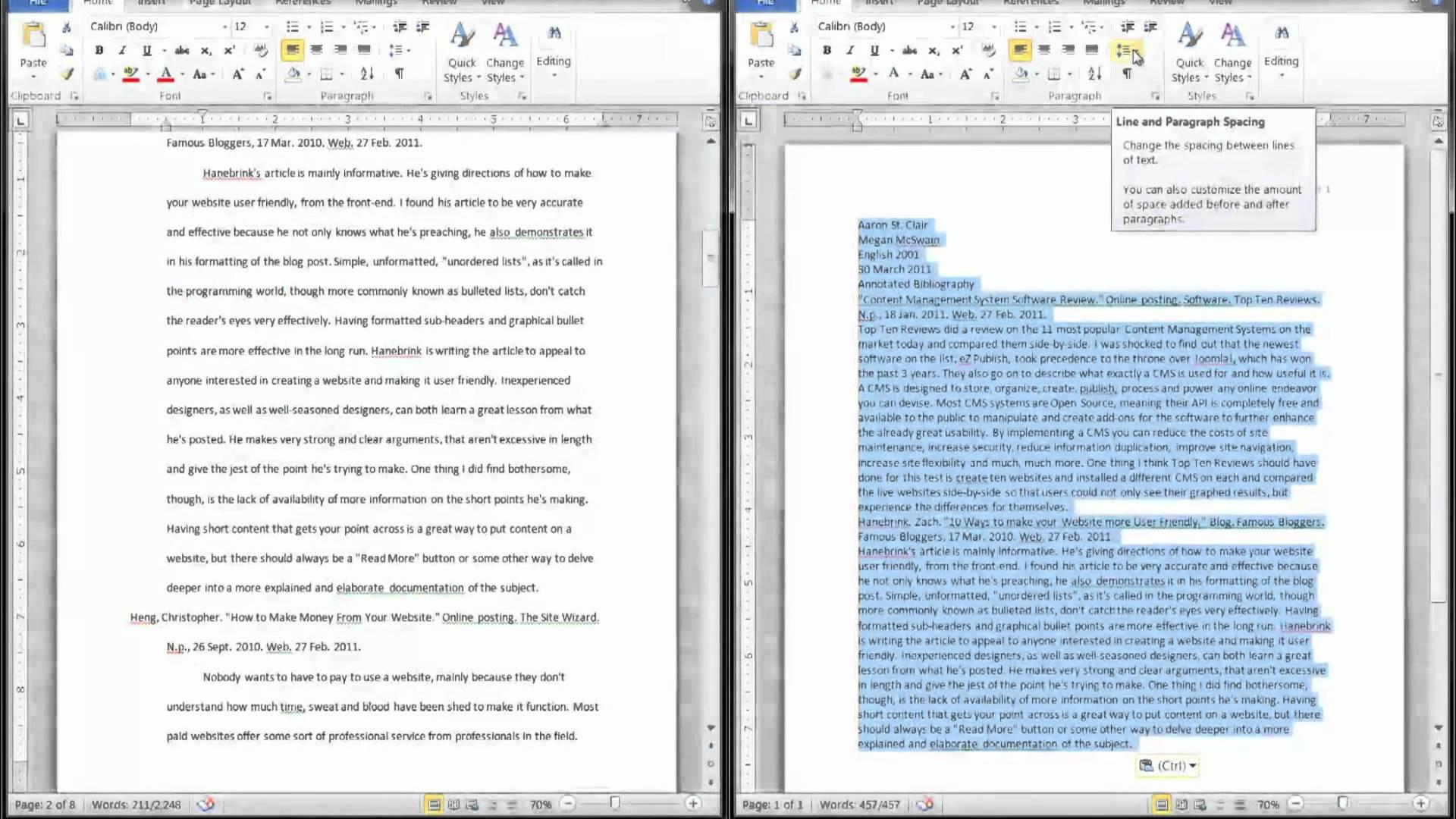 Annotated Bibliography Example Apa Format