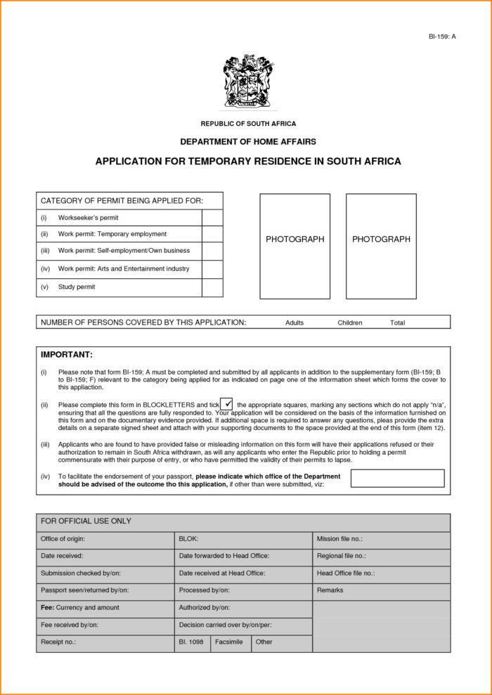 Application Form For Divorce In South Africa