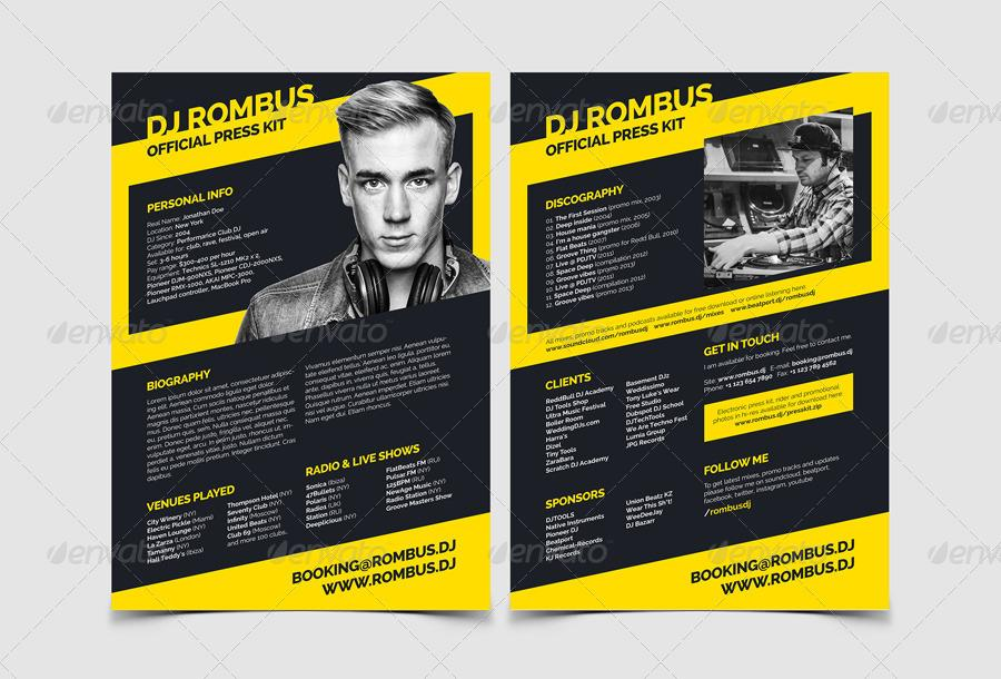 Artist Electronic Press Kit Template