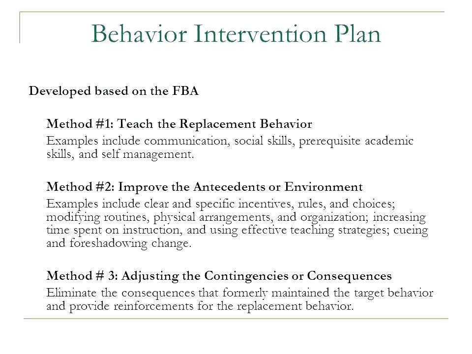Behavior Plan Template For Elementary Students