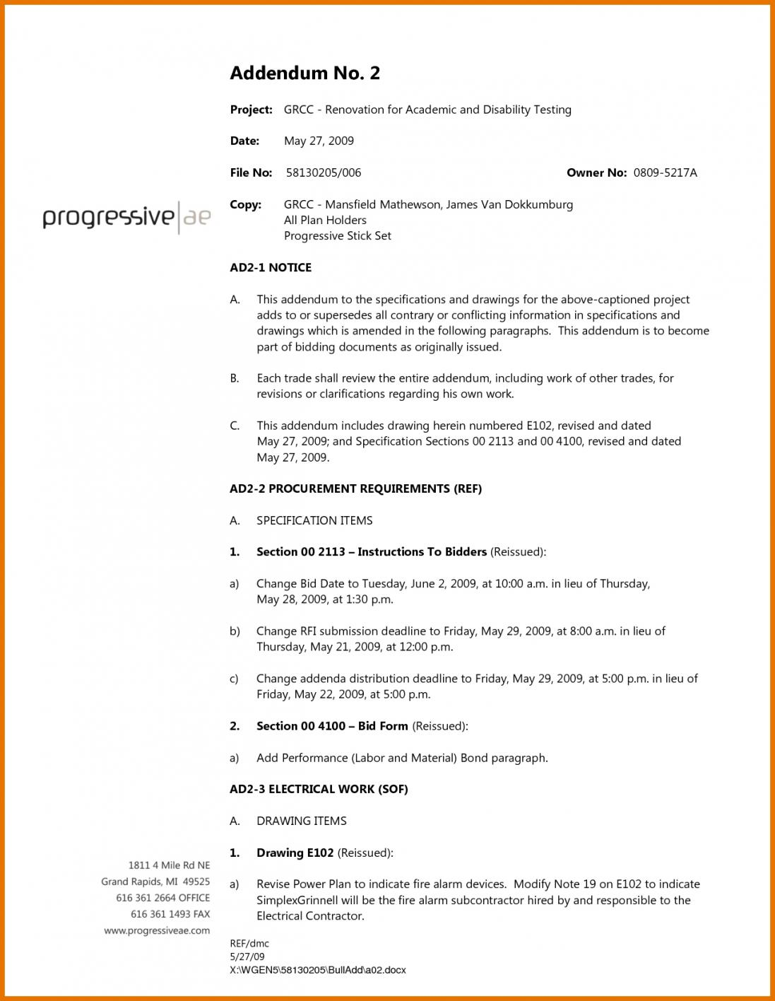Bid Proposal Template For Lawn Care