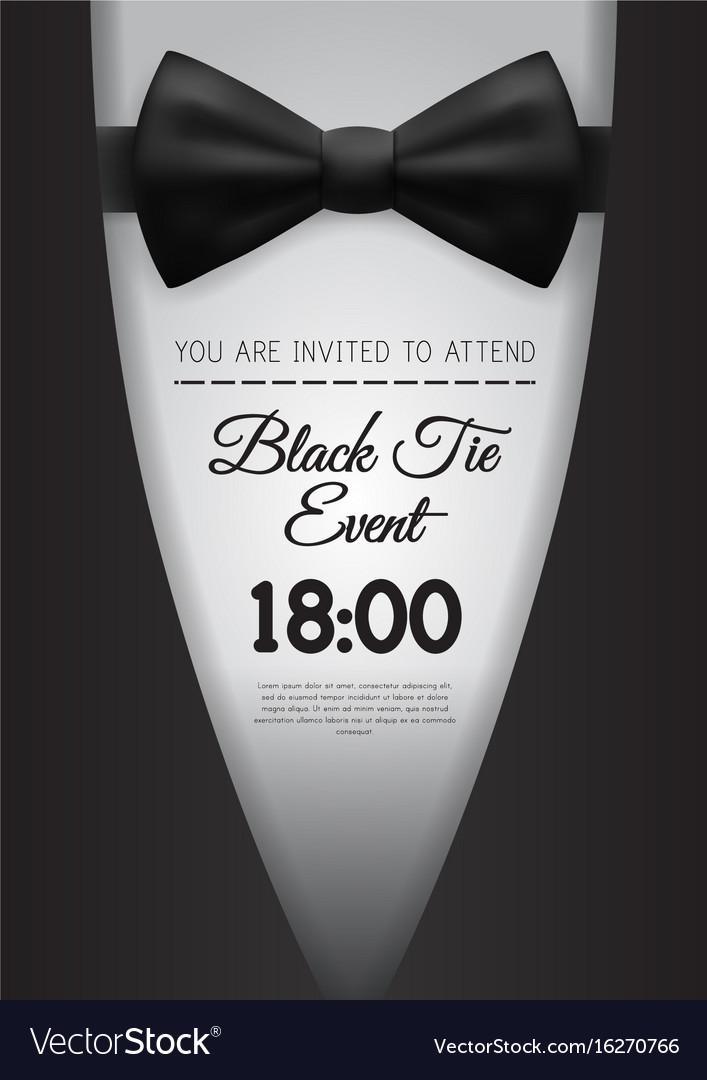 Black Tie Event Invitation Template